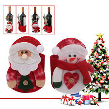 1pc Wine Bottle Cover Xmas Santa Table Decor Christmas Bottle Cap Party Gift