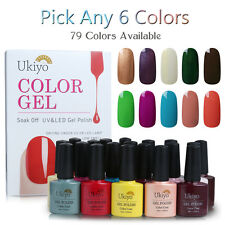 Ukiyo Any 6 Colors Soak Off UV Color Gel Polish or Top Base Coat Nail Manicure