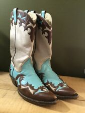"Custom 13"" Tall Kimmel Cowboy Boots Custom Inlay Order & Handmade Approx 9B"