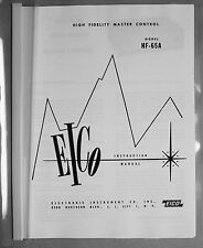 Eico HF-65A tube preamplifier manual reprint