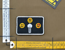 """Ricamata / Embroidered Patch """"Safe Semi Auto"""" Black with VELCRO® brand hook"""