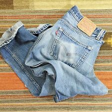 "VTG LEVI'S 501 Jeans 35x34 Made In USA Faded Worn Denim 32"" Inseam (#L8)"
