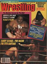 Sports Review Wrestling January 1986 Magnum TA, Abdullah VG 020316DBE