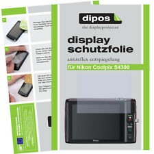 2x Nikon Coolpix S4300 screen protector protection guard anti glare