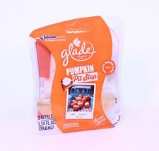 2 Refills Glade Pumpkin Pit Stop Scented Plugins Oil Refill Limited Harvest Fall