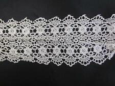 1 yard  Venise Venice ivory double scalloped lace trim 3 7/8 inches wide.