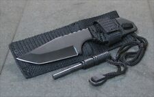 DEFENDER SURVIVAL CAMP KNIFE WITH MAGNESIUM FIRE STARTER