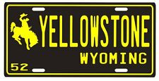 Yellowstone National Park 1952 Wyoming Souvenir License plate