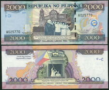 Philippines 2000 Pesos 2001(2012) UNC**New - Commemorative w/ folder (unissued)