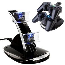 PS3 Stand Pad Joy Sony Game System Accessories Charger 2 Controller Charging USB