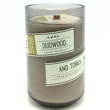 Oudwood Tonka Scented Candle Wood Wick Makers of Wax Goods Oud