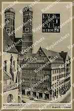 or. Reklame Hirmer Mode Bekleidung Volkswagen VW Käfer München Altstadt Dom 1958