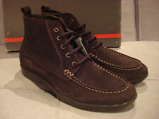 SWISSIES MEN'S BROWN ANKLE SHOES BOOTS SIZE 9 - BRAND NEW - NWT