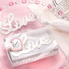 Love Bookmark Silver Metal Book Page Marker Reader Heart Wedding Valentine Gift