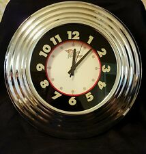 Fossil Brand Company Retro Look Wall Clock Battery Operated Works