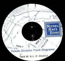 Nickel Plate Road 1964 Toledo Div W&LE Dist Track Chart Diagram PDF Pages on DVD