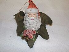 VINTAGE FATHER CHRISTMAS TREE HANGING ORNAMENT DECORATION WITH BELLS