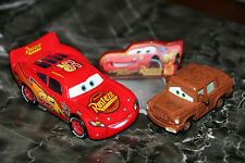 "DISNEY PIXAR CARS 2  ""LIGHTNING McQUEEN WITH SIGN AND FRED"" LOOSE,SHIP WORLDWIDE"