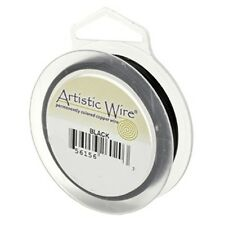 Artistic Wire Black 22 gauge 15 yards 41097 Round
