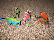"Lot of 4 Assorted 4""-5"" Tall Large Toy Dinosaurs Plastic Figures"