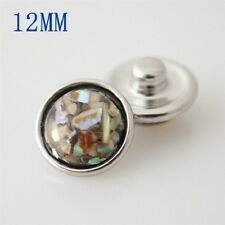 MINI SNAP Resin Chunk Button PETITE JEWELRY Bracelet 12mm Fits Ginger Snaps