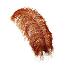 """1 BROWN Ostrich FEATHERS 23-28"""" Full Wing PLUMES; Bridal/Wedding/Centerpiece"""