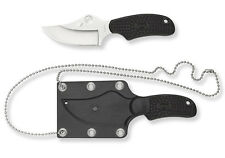"Spyderco ARK 2.56"" H1 Steel Plain FRN Handle With Sheath Black FB35PBK *NEW*"