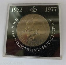 1977 Kupfer Nickel Crown Queen Elizabeth II --Silver Jubilee-- in Verpackung