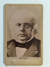 Vintage Carte De Visite CDV Photo - Print Of John BRIGHT - Quaker And MP Lancs