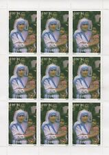 MOTHER TERESA OF CALCUTTA TURKMENISTAN 1997 MNH STAMP SHEETLET