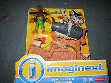 Fisher Price Imaginext Shark Pirates Captain Kidd & Surf Board Cannon Harpoon