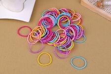 100Pcs Girls Women Elastic Rope Hair Ties Rubber Band Hairband Ponytail Holder
