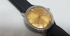 USED VINTAGE ENICAR STARJEWELS GOLD DIAL MANUAL WIND MAN'S WATCH