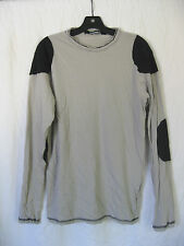 *Lip Service Grey Straps of Mercy Men's Patched Long Sleeve Shirt Goth L RARE