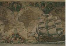 Wallpaper Border Old World Vintage Antique Looking Maps and Ships