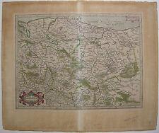 Mark Brandenburg Pommern Polen Kolor Orig Kupferstichkarte Mercator 1633