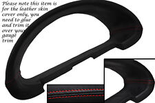 RED Stitch accoppiamenti CITROEN SAXO 96-04 Gauge Speedo Trim Surround copertura di cuoio