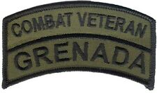 OD Operation Urgent Fury - Grenada Embroidered Tab - US Ranger, US 82nd Airborne