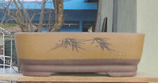 "Rectangle Zisha Bonsai Pot Shohin Kifu Dwarf Planter 13""x9.25""x4"""