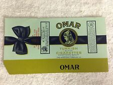 NOS vintage OMAR turkish cigarette 20 unfolded pack wrapper label ATC (#1)