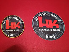HECKLER & KOCH GUNS  ` 1948`:  GOLD PLATED  BADGE &  FREE H&K   STICKER