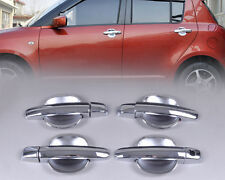 Chrome Door Handle Cover + Cup Bowl Fit For Suzuki Swift 2005-2010 Grand Vitara