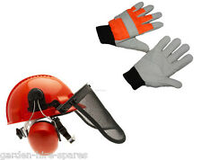 Chainsaw Safety Helmet + Gloves Large
