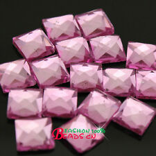 144p 6/8/10mm Hot-fix Iron on Crystal faceted Glass Rhinestone Square flatback