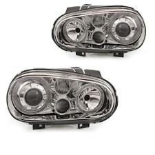 fanale Set VW Golf IV 4 Tipo 1J anno fab. 97-03 Angel Eyes cromo R32 Ottica PNW