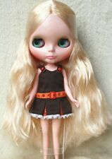"Takara 12"" Neo Blythe Doll from Factory Nude Doll Curly blond hair SD28 + stand"