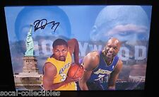 Ron Artest Signed 14x20 Canvas Print UDA Autograph Lakers Auto Metta World Peace
