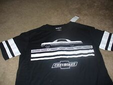 Chevy Impala Mens Chevrolet Car Black GM T-Shirt Size XL