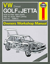 0451 Haynes VW Golf and Jetta Mk 1 Diesel (78 - 84) up to A Workshop Manual