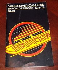 Vancouver Canucks yearbook  1978-1979  NHL logo